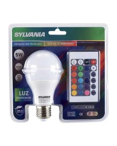BOMBILLO LED, SYLVANIA, MULTICOLOR RGB, E27, 120V, INCLUYE CONTROL
