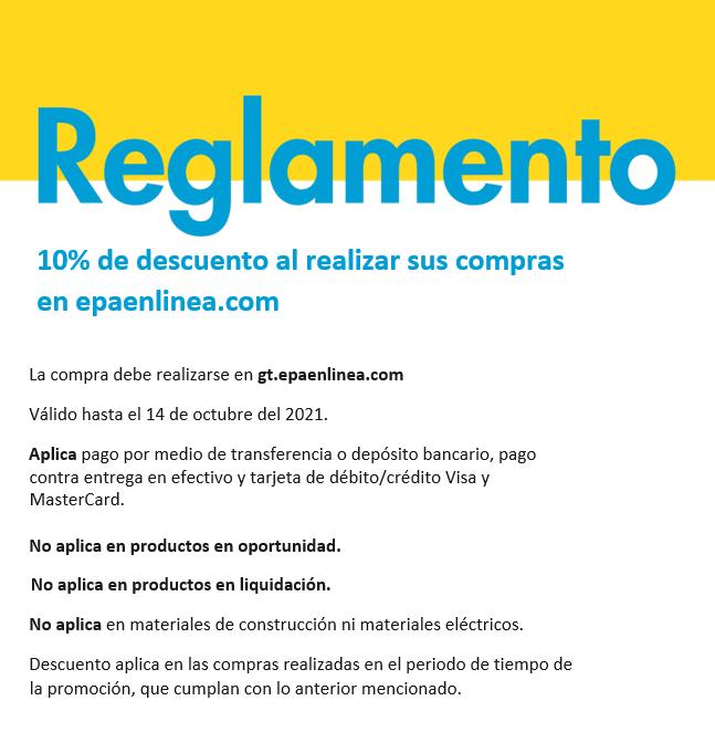 10% de descuento al realizar sus compras en epaenlinea.com